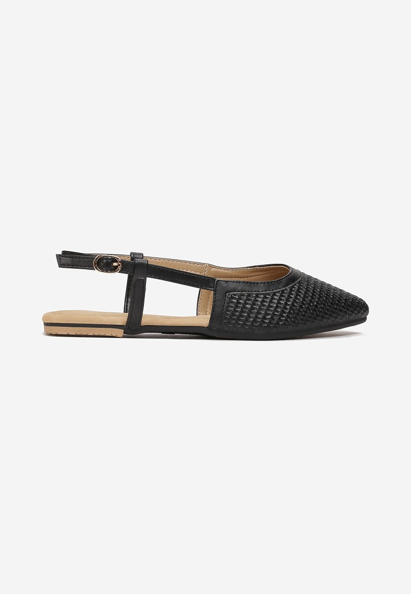 Czarne Sandały Sandstone