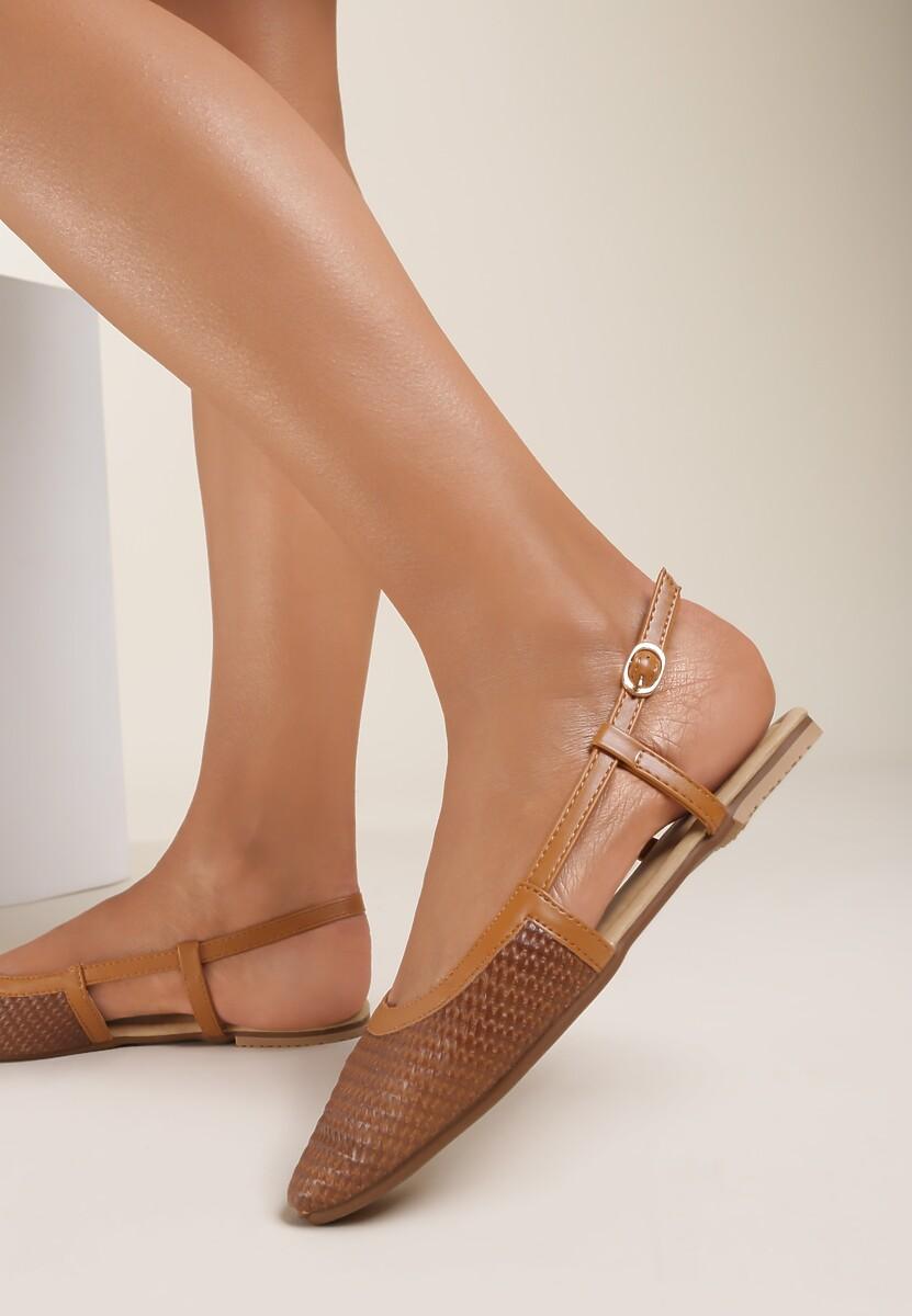 Brązowe Sandały Sandstone