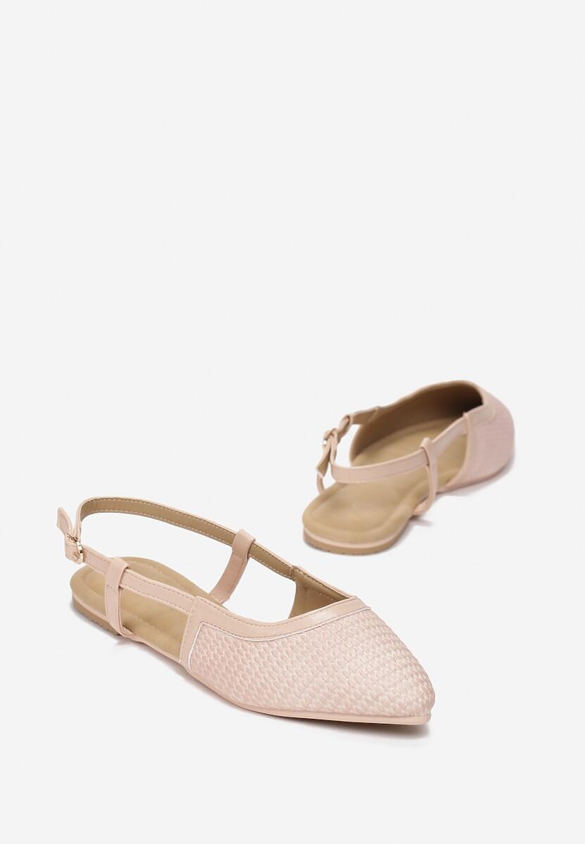 Beżowe Sandały Sandstone