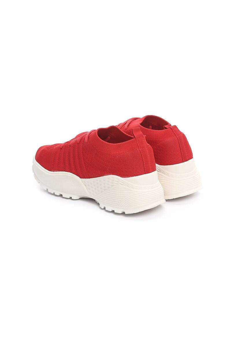 Czerwone Sneakersy Profiling