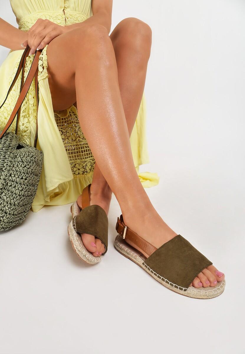 Zielone Sandały Homeliness