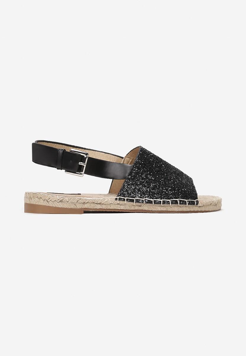 Czarne Sandały Slenderness