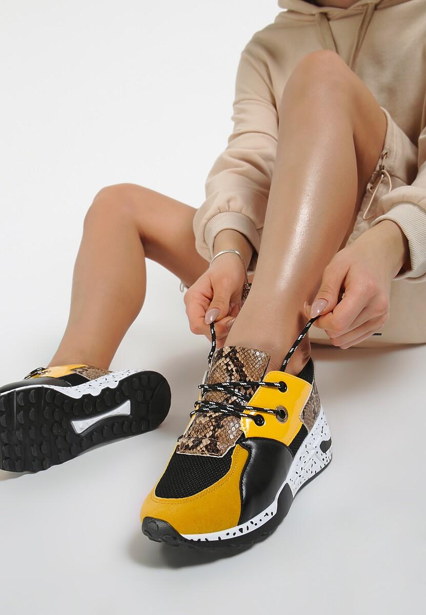 Żółte Sneakersy Coniferous