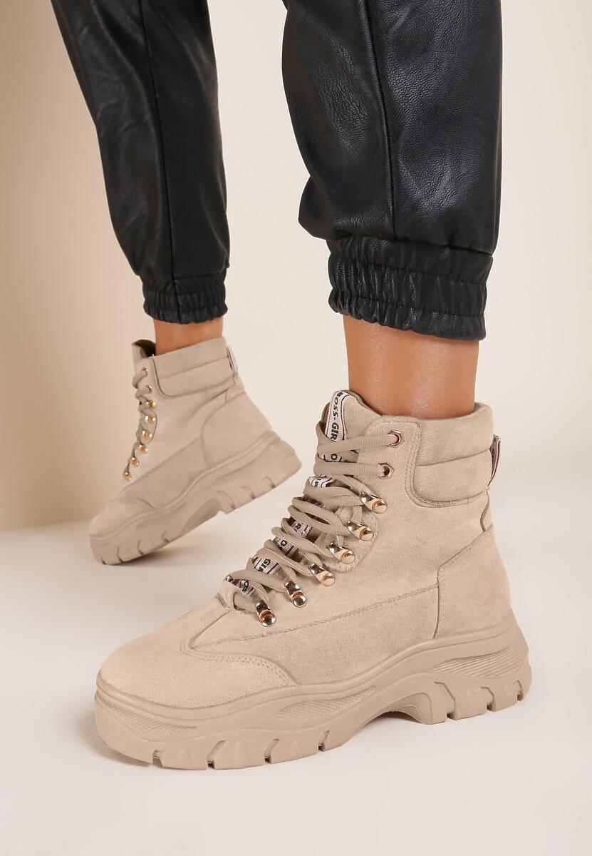 Beżowe Sneakersy Chaparral