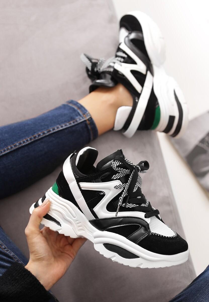Czarno-Białe Sneakersy Cinder Cone