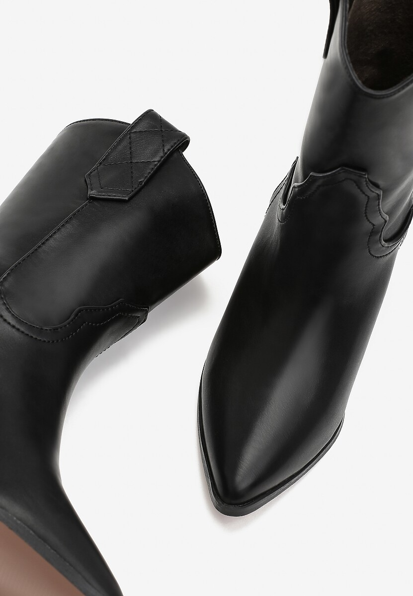 Czarne Botki Ortega