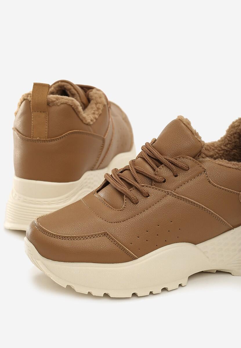 Beżowe Sneakersy Baker