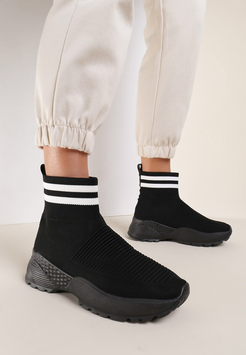 Czarne Sneakersy Lavras