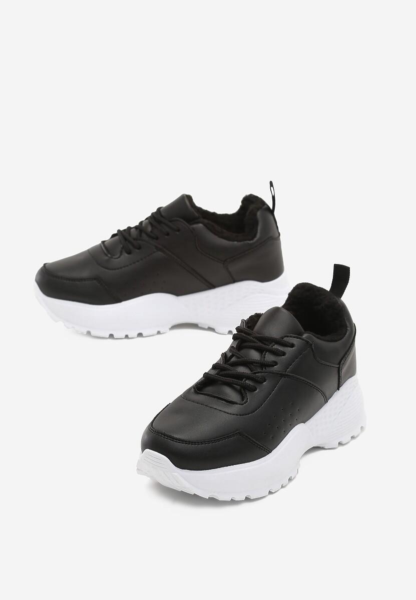 Czarno-Białe Sneakersy Baker