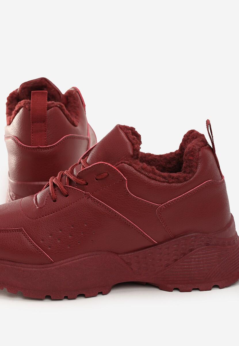 Bordowe Sneakersy Baker