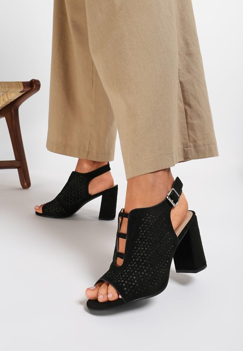 Czarne Sandały Aphophe