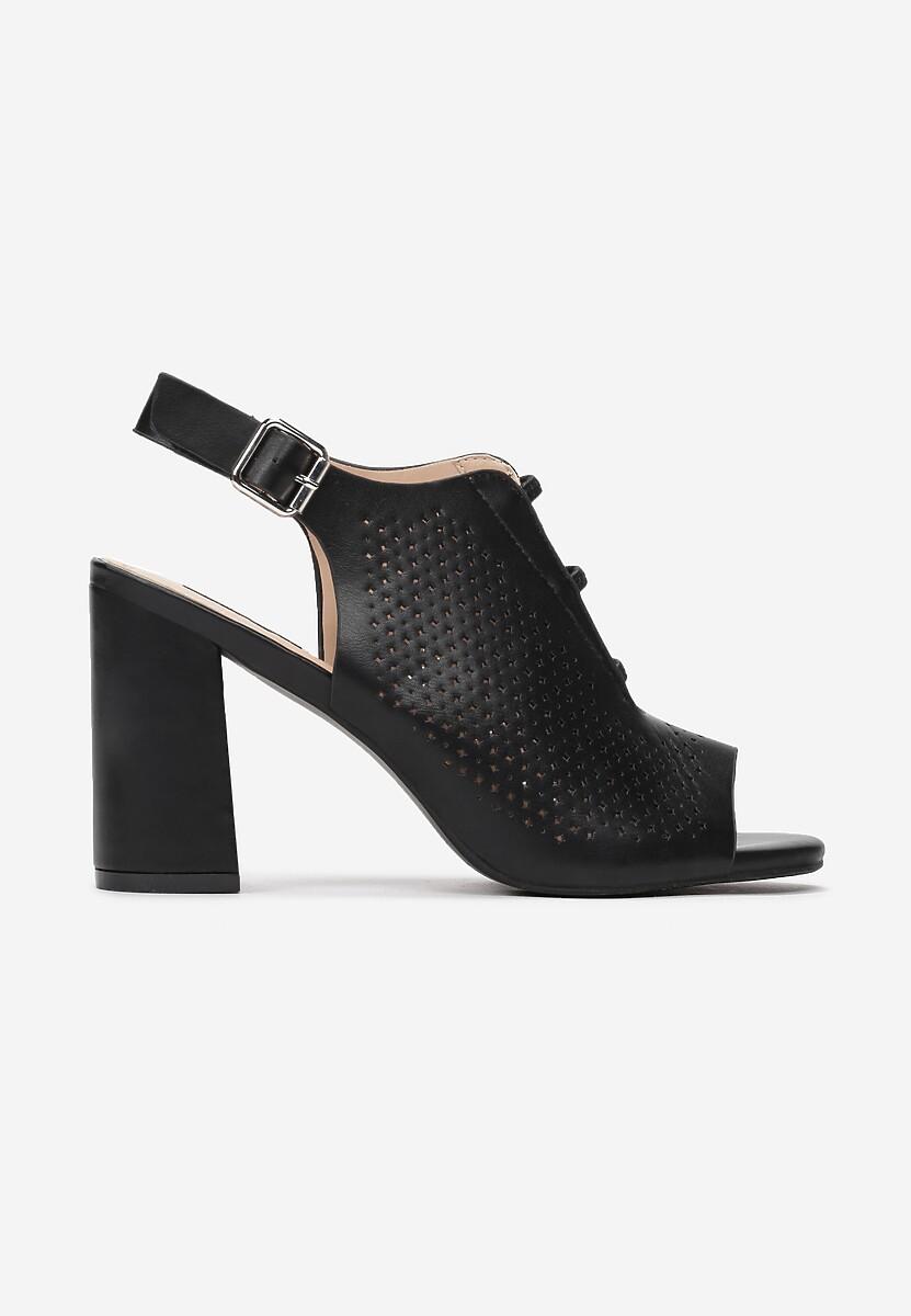 Czarne Sandały Synolphi