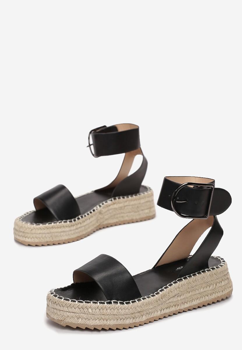 Czarne Sandały Aelixie
