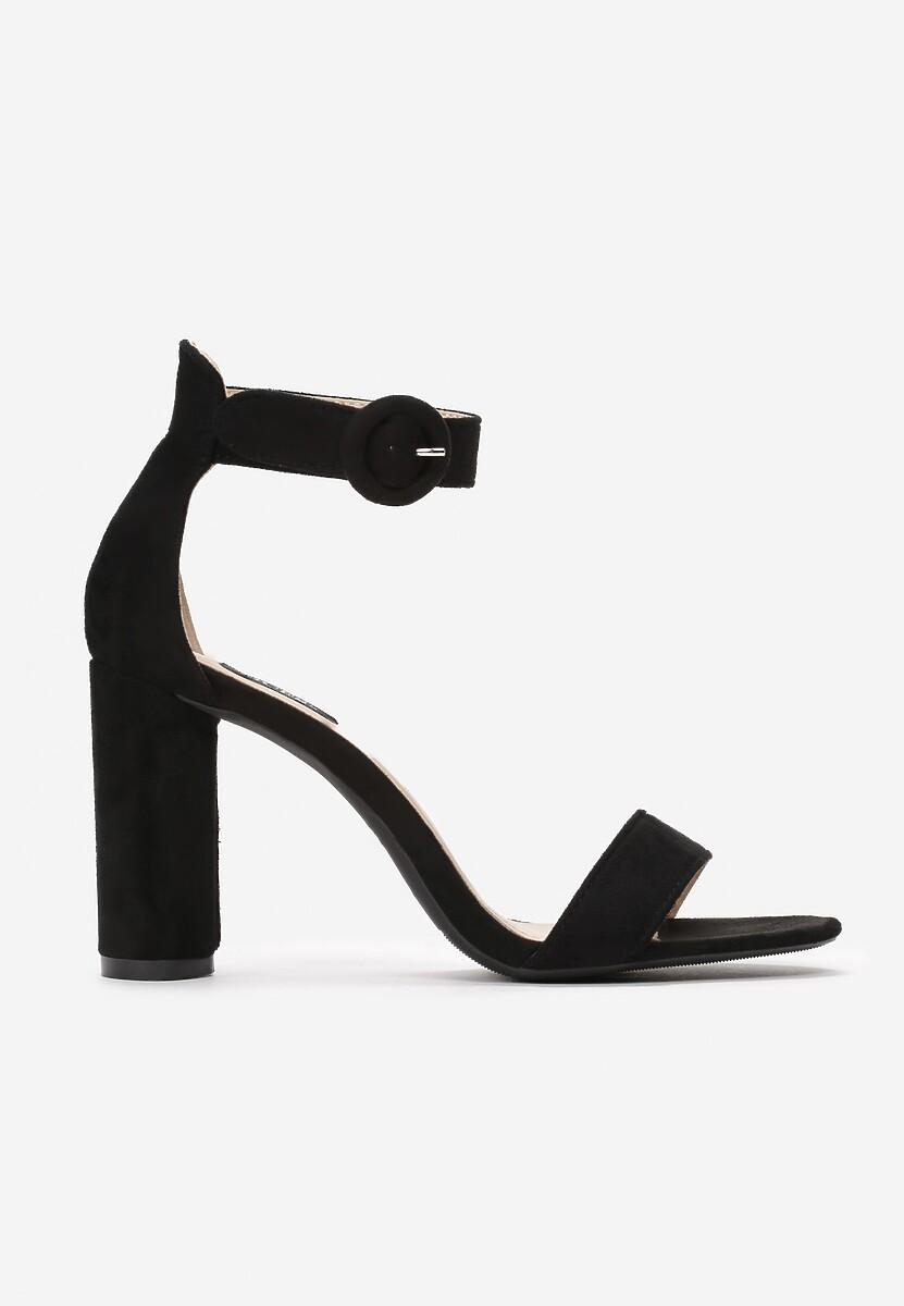 Czarne Sandały Evan