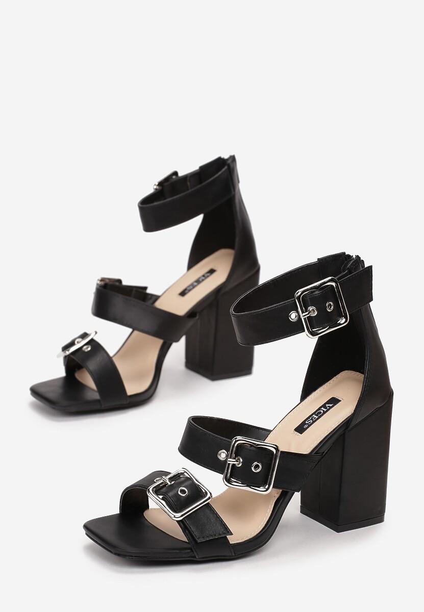 Czarne Sandały Phialia