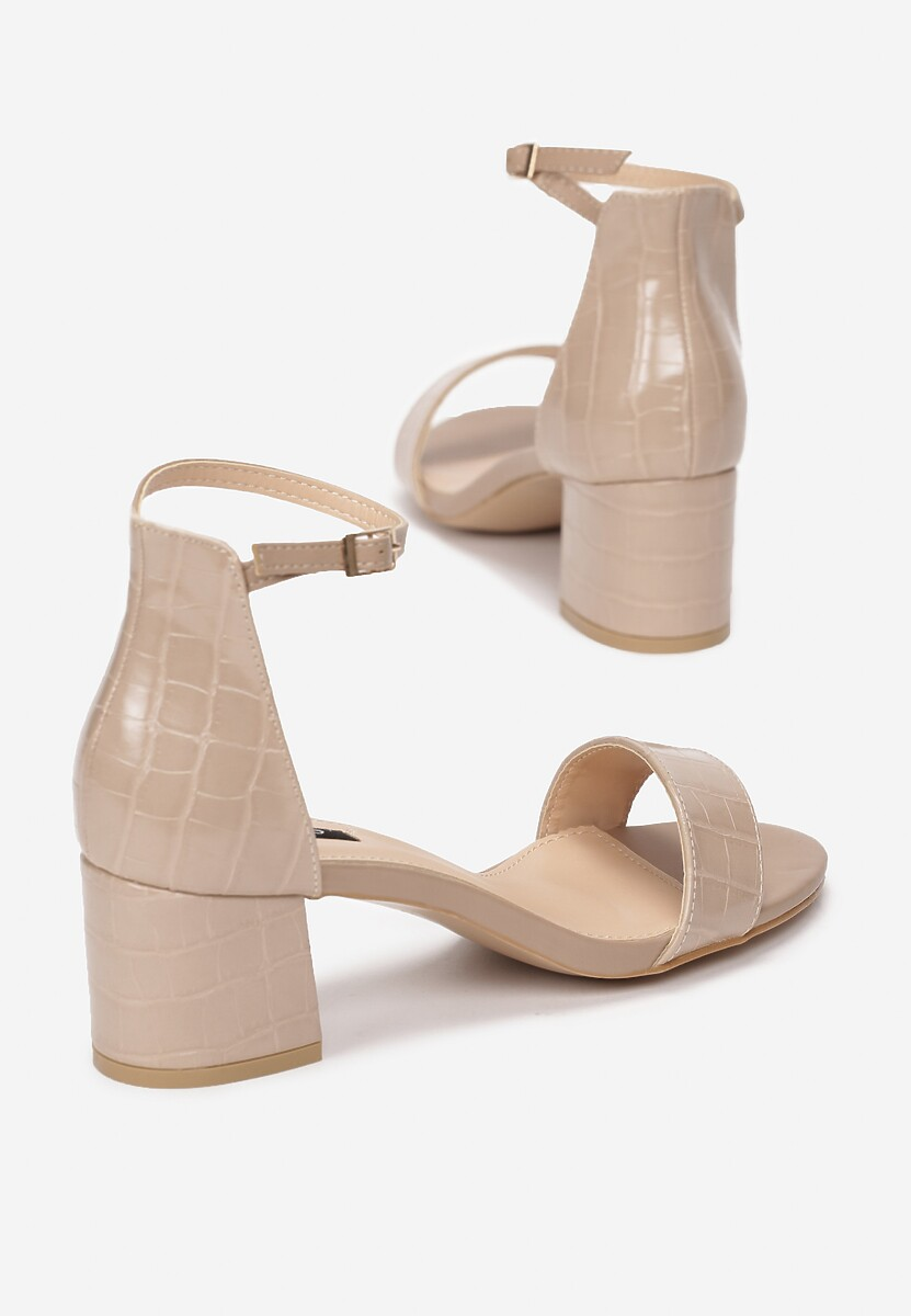 Beżowe Sandały Geniciane