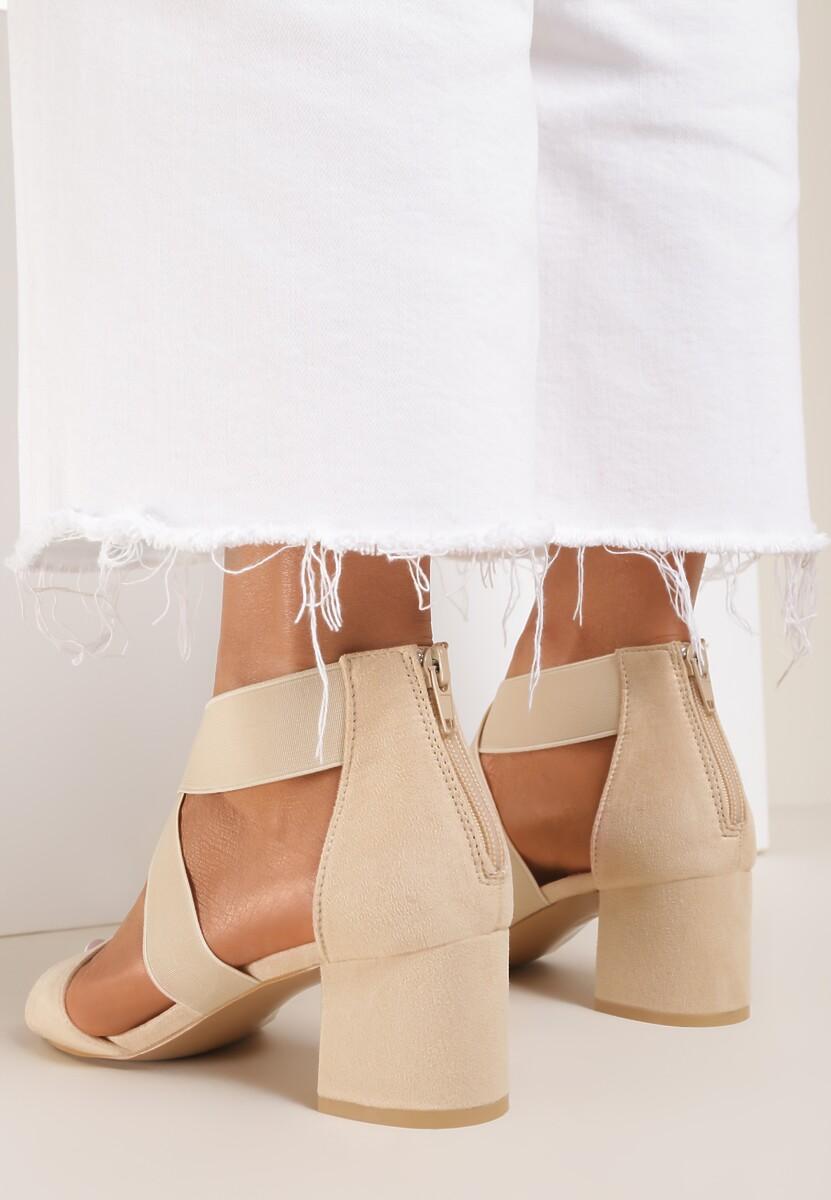 Beżowe Sandały Zelisiphe