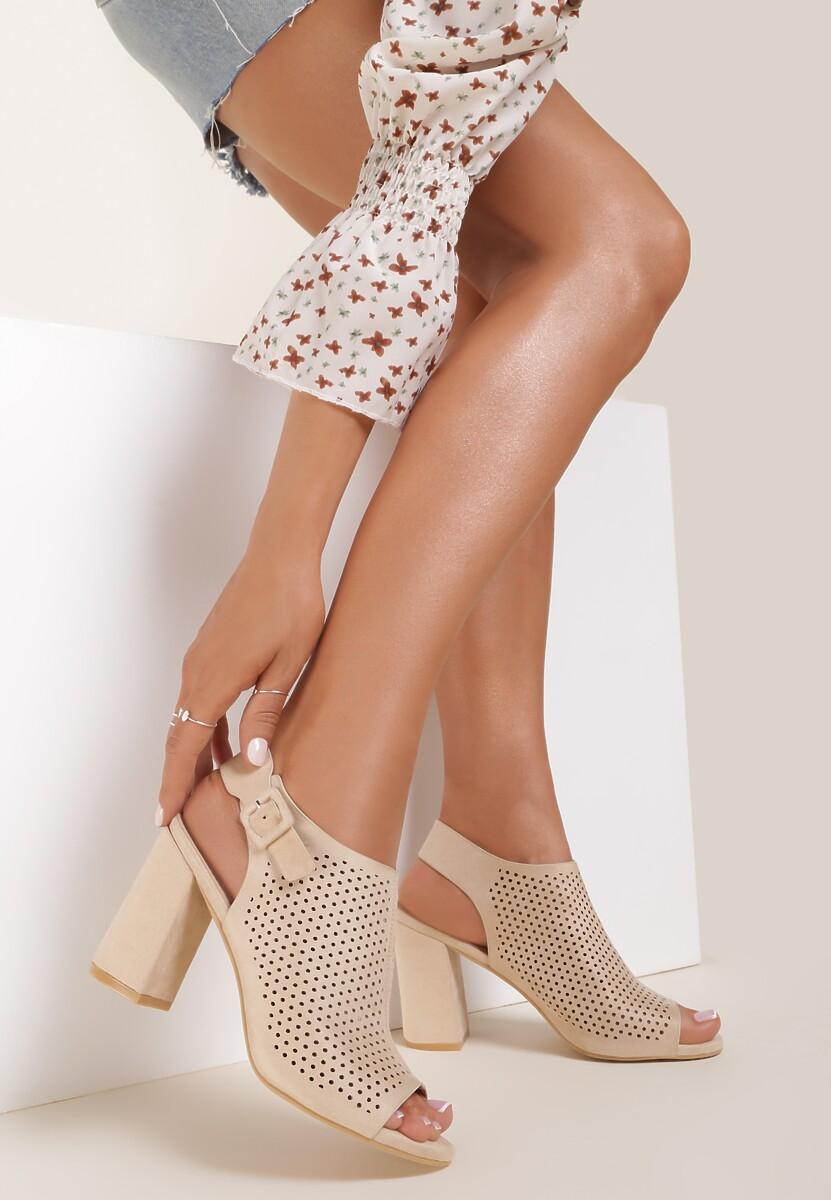 Beżowe Sandały Aqiala