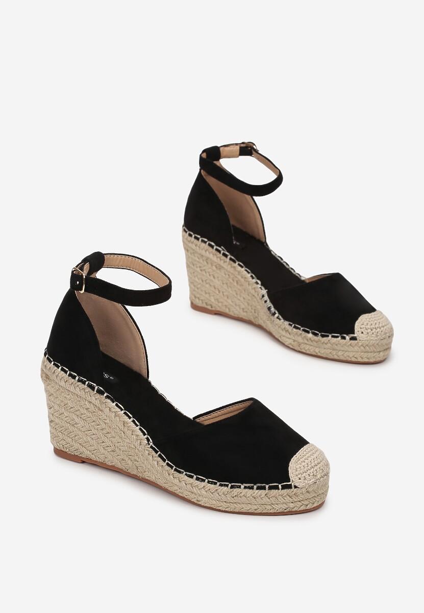 Czarne Sandały Murigune