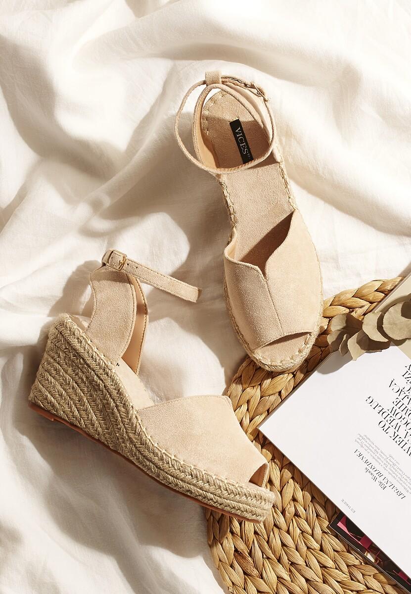 Beżowe Sandały Aririth