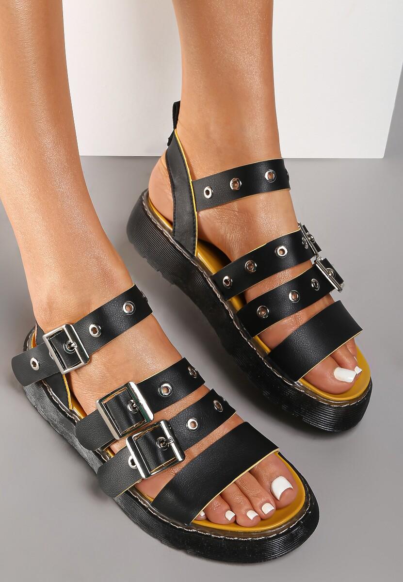 Czarne Sandały Adrievere