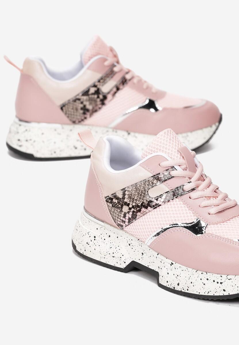 Różowe Sneakersy Clymisa