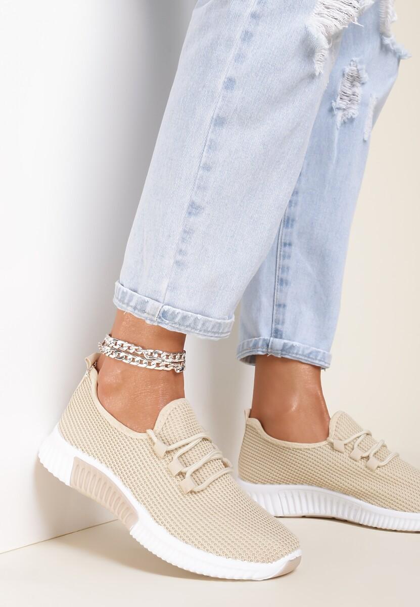 Beżowe Buty Sportowe Carol