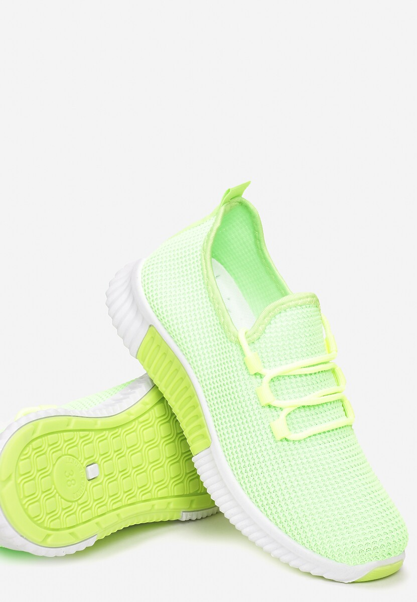 Limonkowe Buty Sportowe Carol