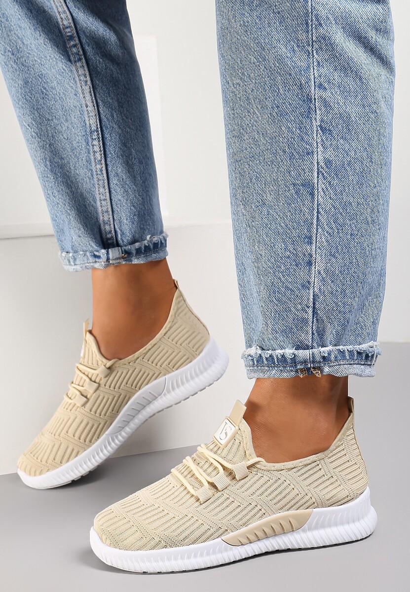 Beżowe Buty Sportowe Pudina