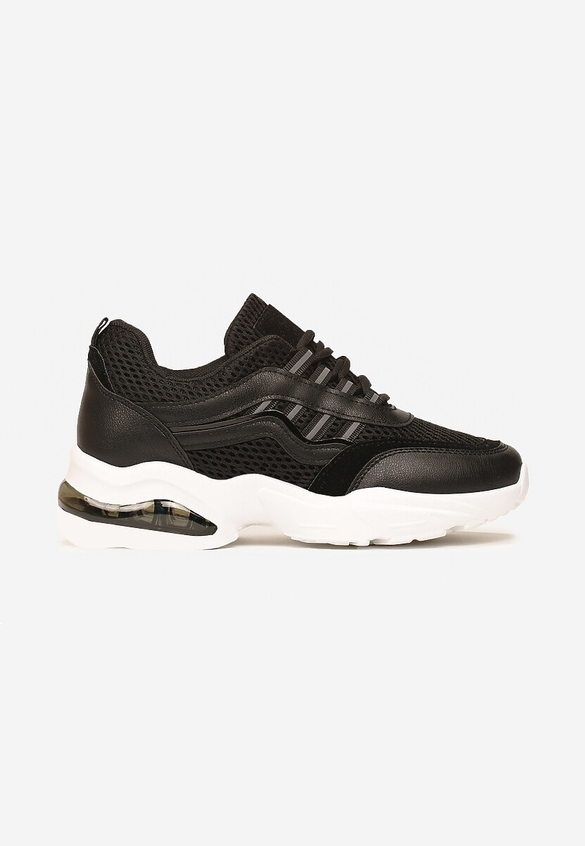 Czarne Sneakersy Glossiness