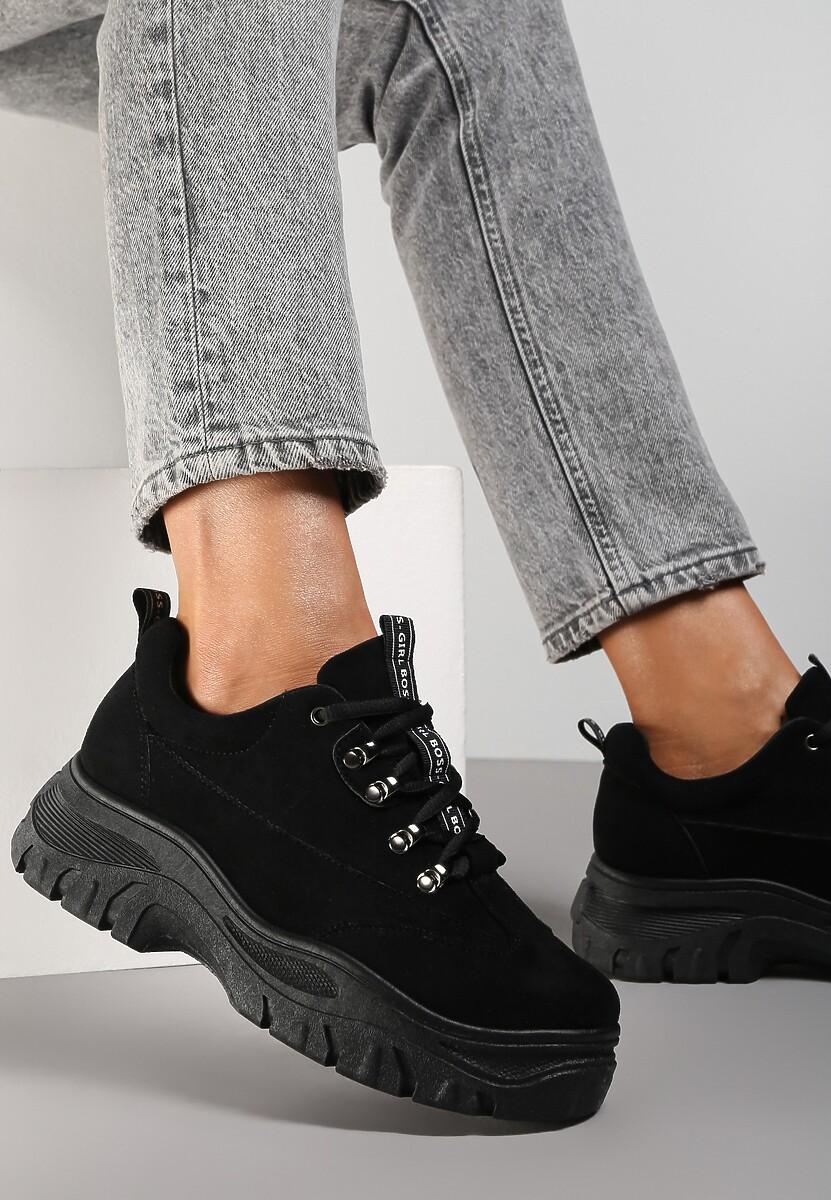 Czarne Sneakersy Farwynn