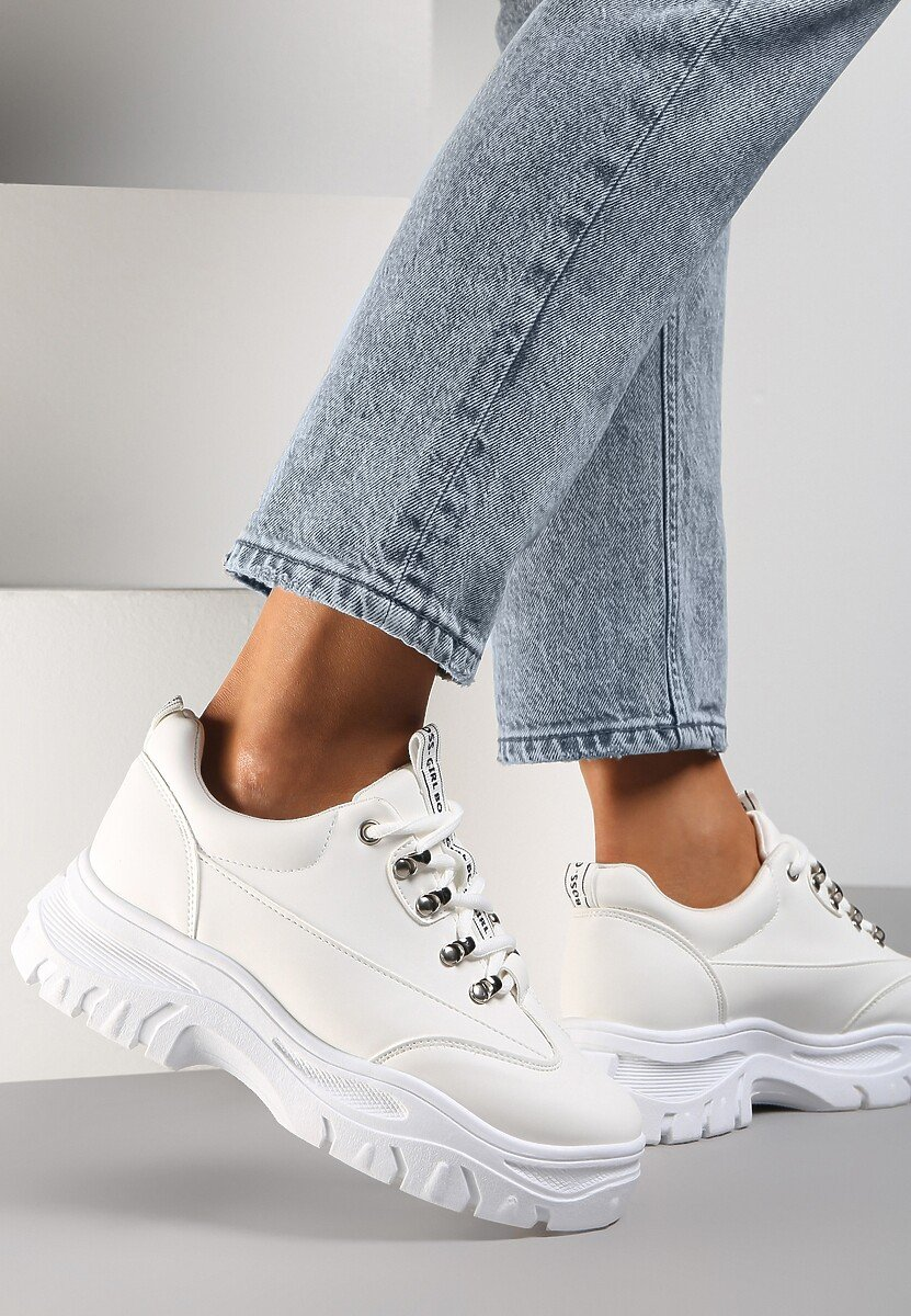 Białe Sneakersy Farwynn
