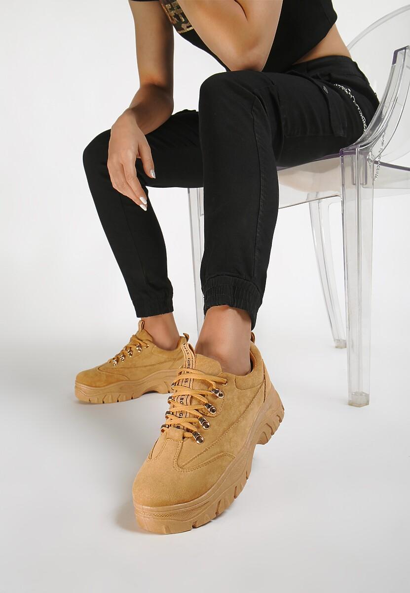 Camelowe Sneakersy Farwynn