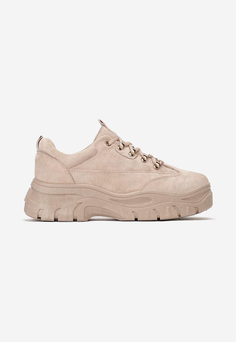 Beżowe Sneakersy Farwynn