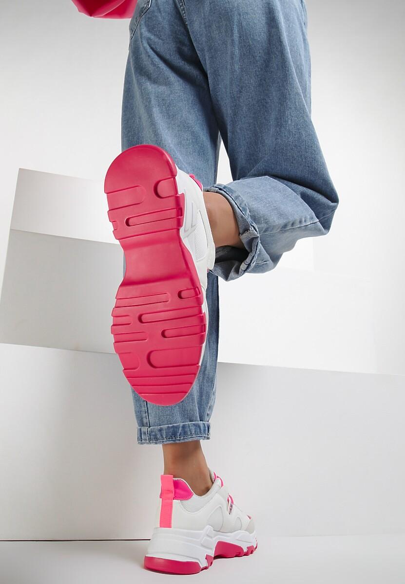 Biało-Fuksjowe Sneakersy Lucence
