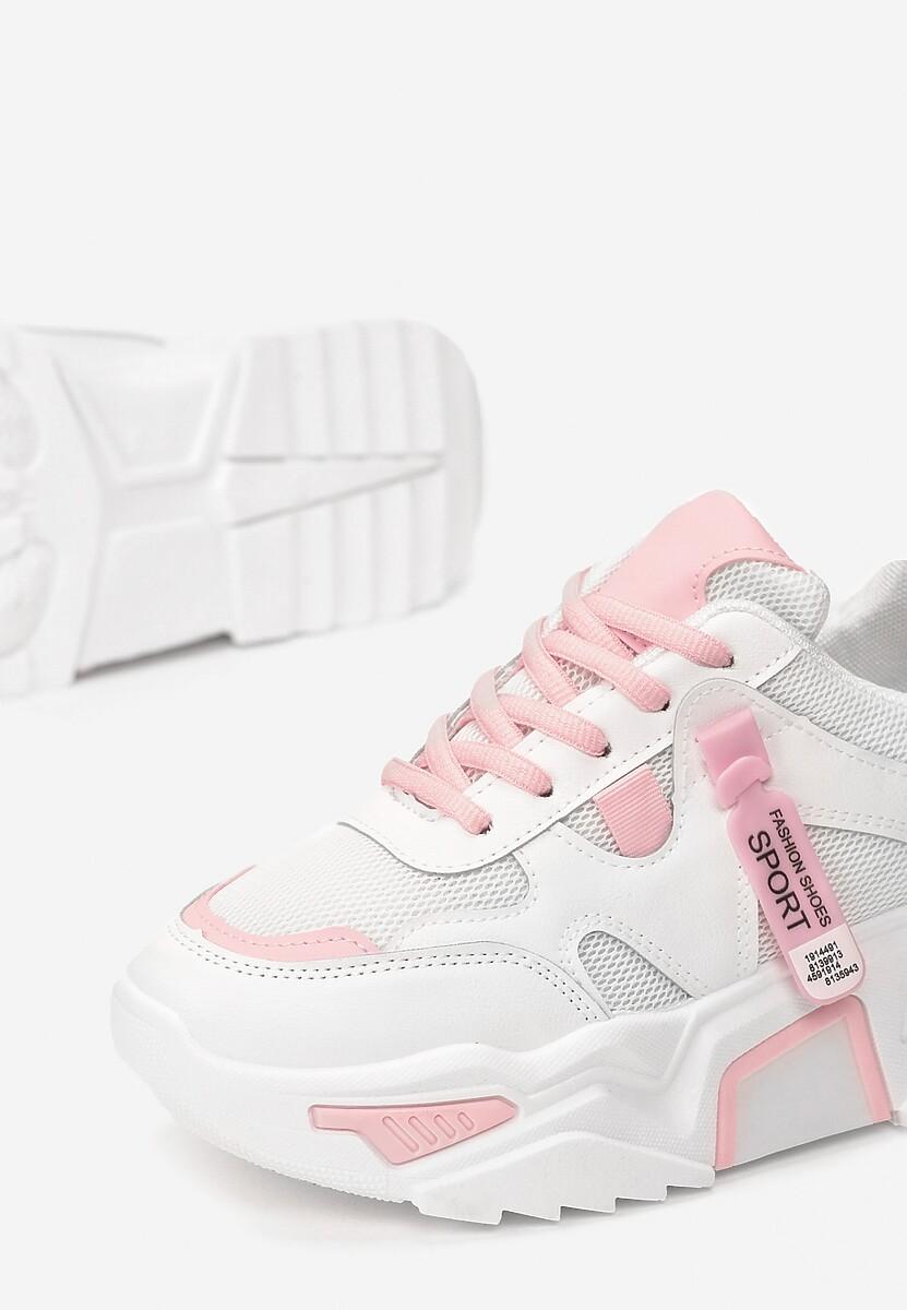 Biało-Różowe Sneakersy Touch Of Light