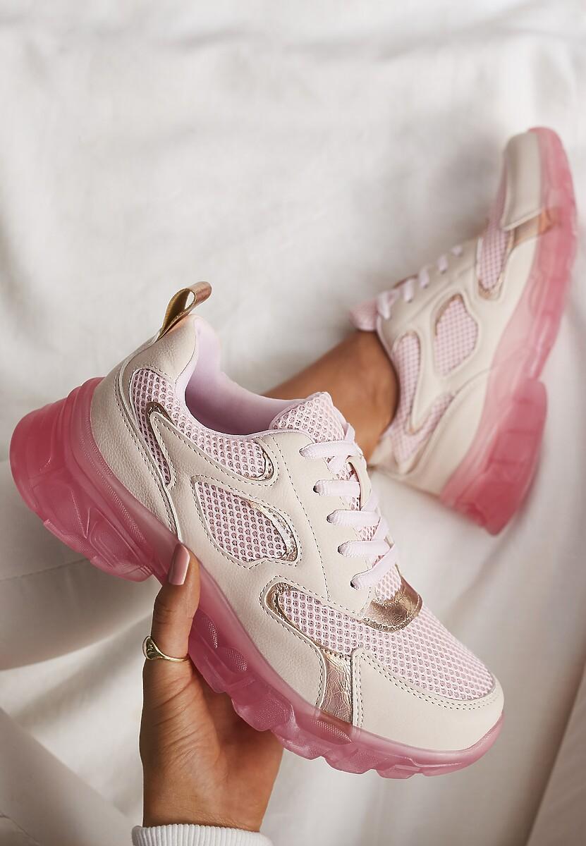 Różowe Sneakersy Brethyse