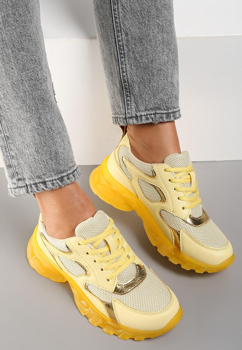 Żółte Sneakersy Brethyse