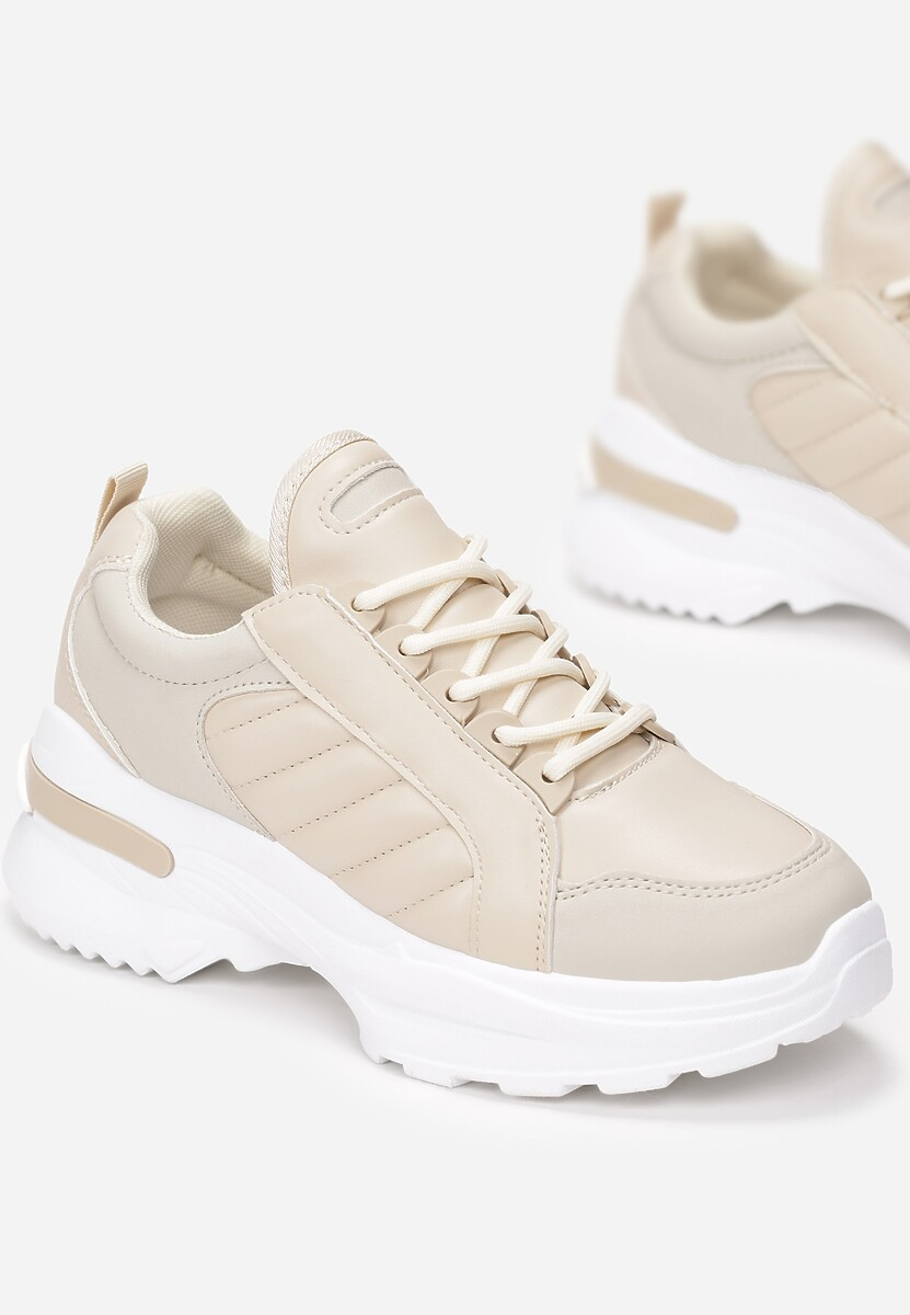 Beżowe Sneakersy Doreania