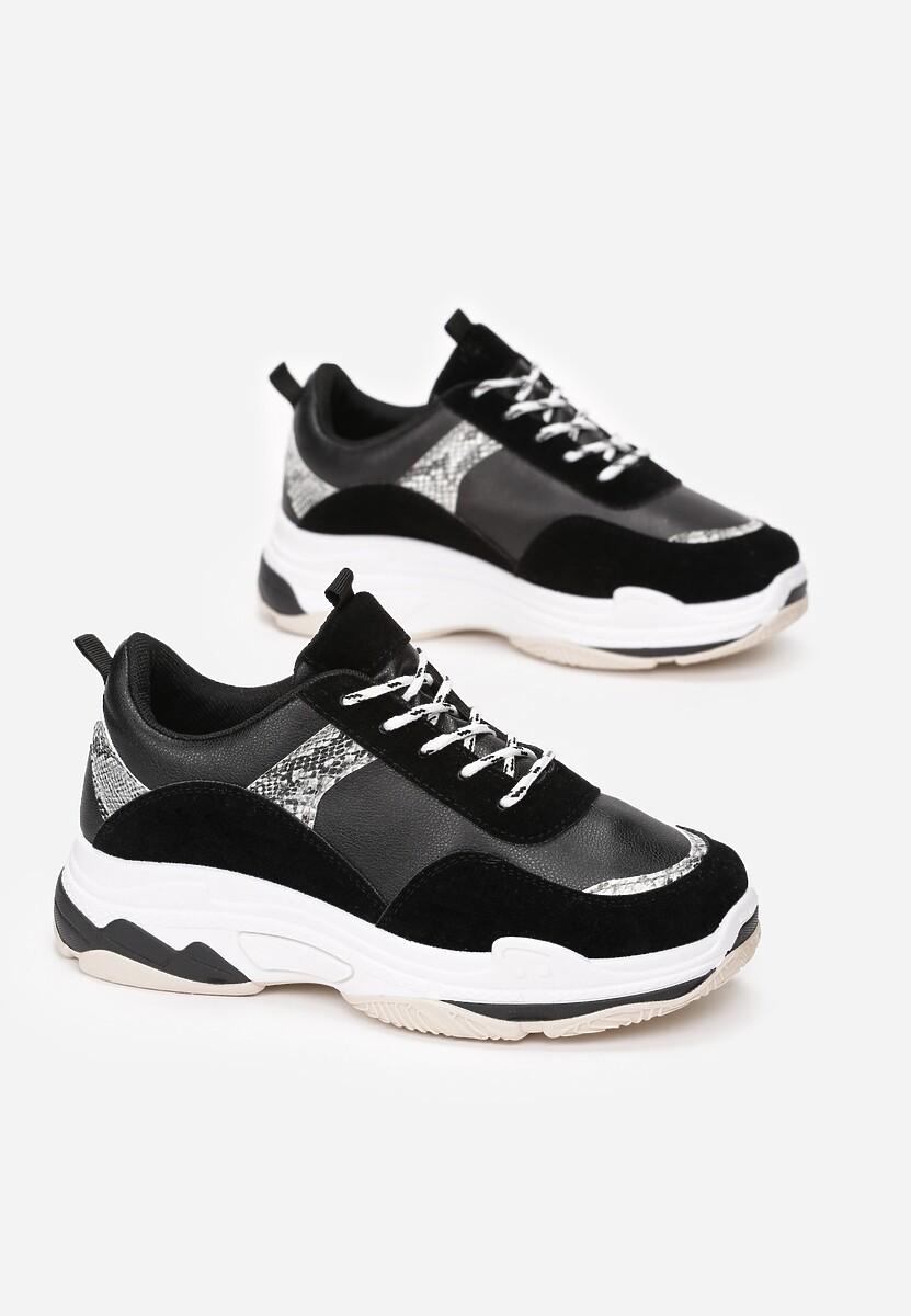 Czarne Sneakersy Aroape