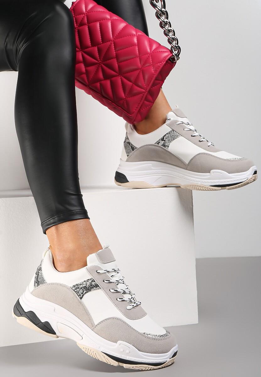 Biało-Szare Sneakersy Aroape