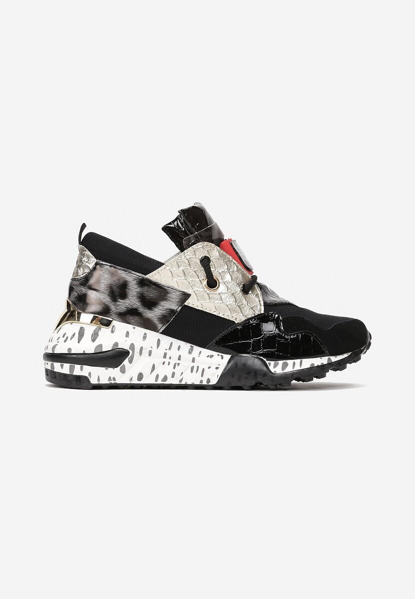 Czarno-Złote Sneakersy Coniferous