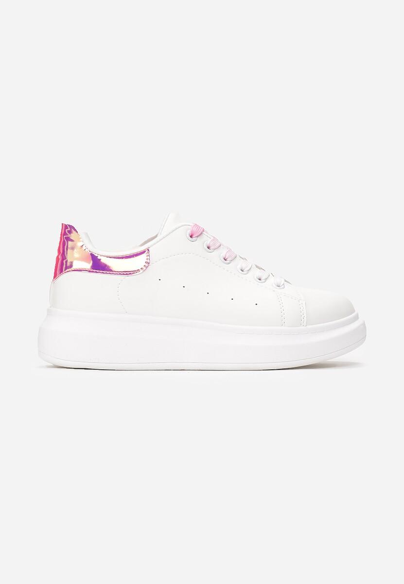 Biało-Fuksjowe Sneakersy Soft Gradient