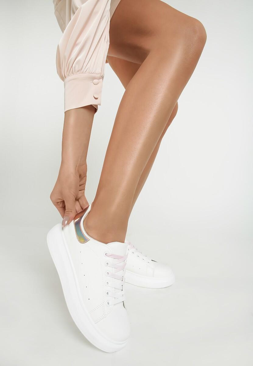 Biało-Różowe Sneakersy Soft Gradient