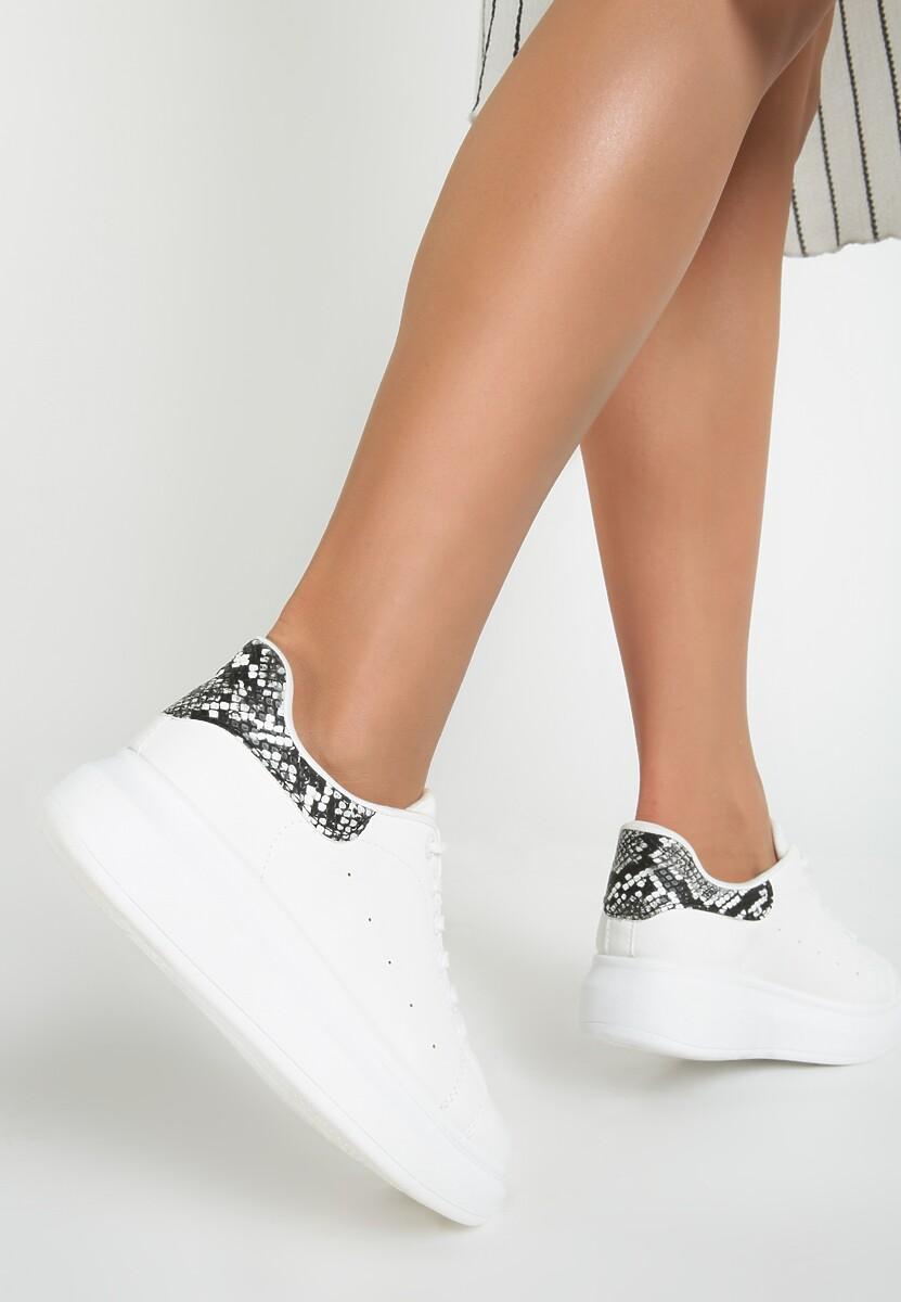 Białe wężowe Sneakersy Lucid Dream