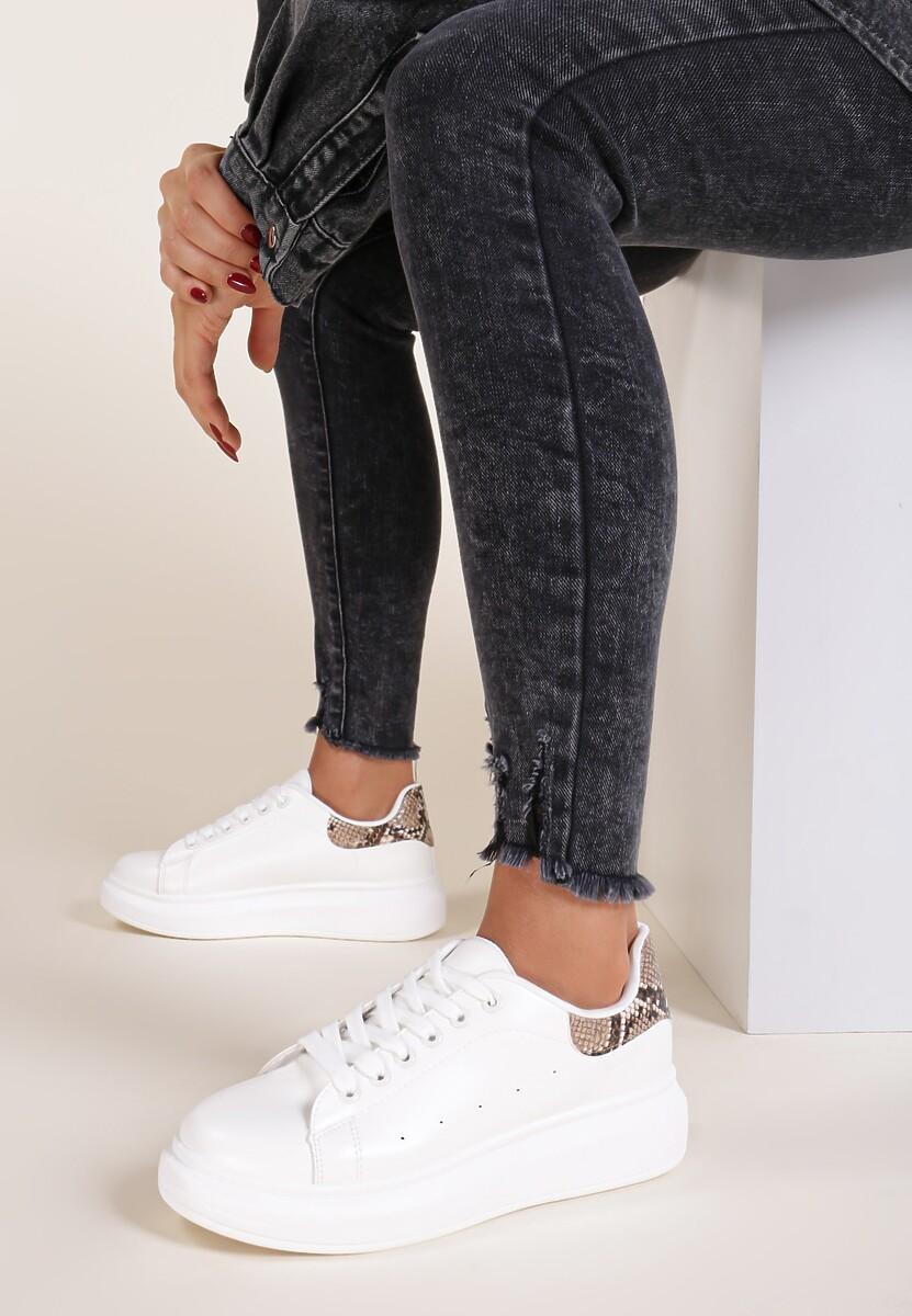 Biało-Brązowe Sneakersy Lucid Dream