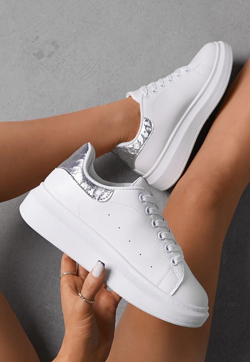 Biało-Srebrne Sneakersy Lucid Dream