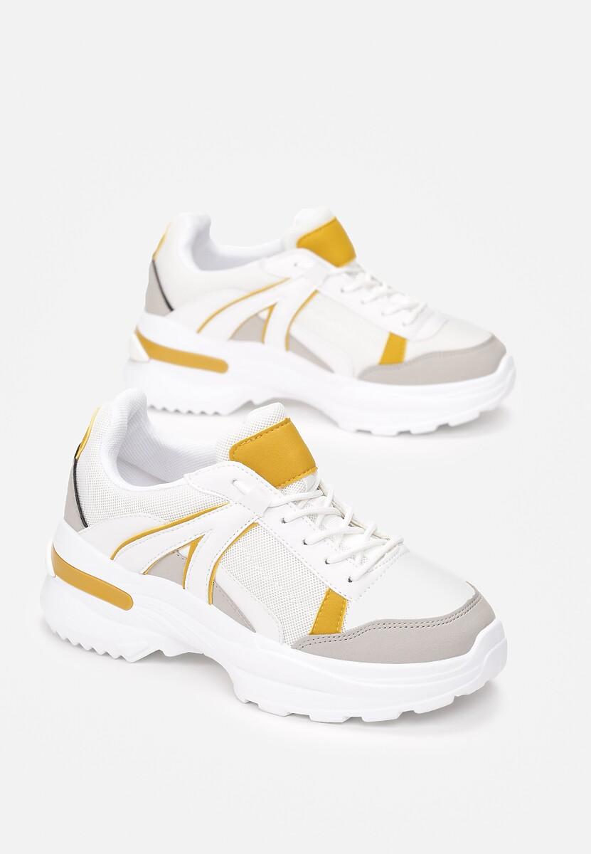 Biało-Żółte Sneakersy Hainei