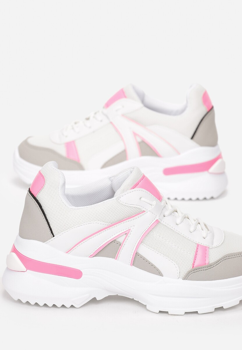 Biało-Różowe Sneakersy Hainei