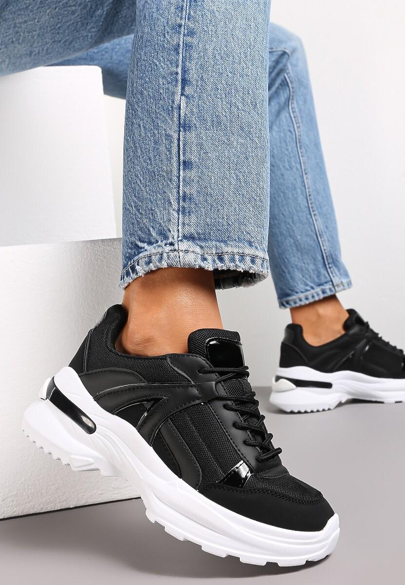 Czarne Sneakersy Hainei